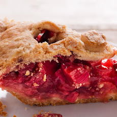 Strawberry-Rhubarb Pie with Sour Cream Crust