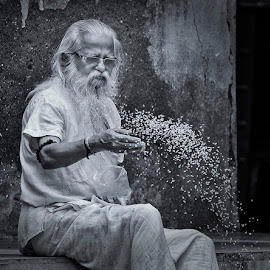 Sadhu by Yogesh Waikul - People Portraits of Men ( mumbai, monochrome, black and white, maharastra, nikon )