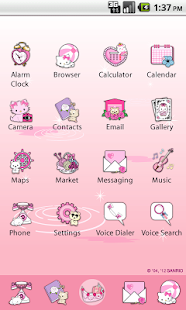 Charmmy Kitty Paddle Theme - screenshot