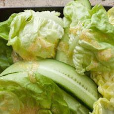 Cucumber and Bibb Lettuce Salad with Creamy Horseradish Vinaigrette Recipe