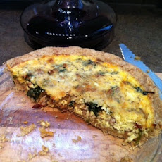 Italian Sausage-Spinach-Cheese Quiche