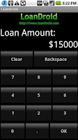 Screenshot of Loan Calculator - LoanDroid