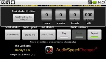 Screenshot of Audio Speed Changer
