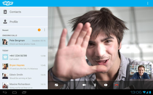 skype-free-im-video-calls for android screenshot