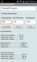 Screenshot of Gravel Calculator
