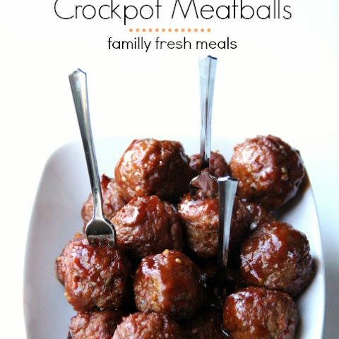 Honey Garlic Crockpot Meatballs