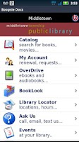 Screenshot of Middletown Township Library