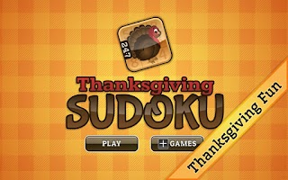 Screenshot of Thanksgiving Sudoku
