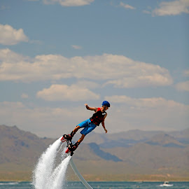 Hydro-Power II by Randy Dannheim - Sports & Fitness Other Sports ( water, fly borading, lake pleasant, water sports, jet ski boots, device, rocket boots, transportation, arizona water sports )