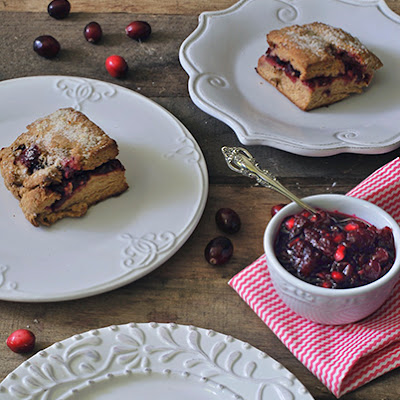 Whole Wheat Cranberry Sauce Scones