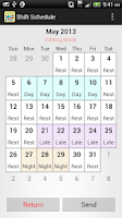 Screenshot of Shift Calendar / Schedule
