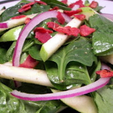 Spinach Salad with Apples, Avocado, and Bacon