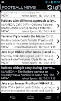Screenshot of Oakland Football News