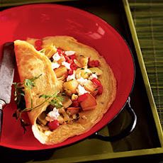 Artichoke, Goat Cheese, and Potato Omelet