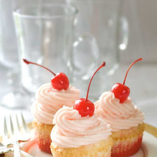 Gluten Free Shirley Temple Cupcakes