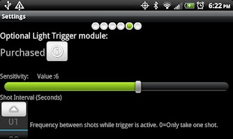 Screenshot of Camera Trigger Shot
