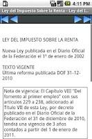 Screenshot of LISR - Ley del Impuesto Sobre