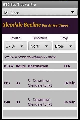 GlenDale Beeline Bus Times