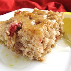 Rhubarb Spice Cake with Lemon Sauce