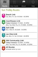 Screenshot of Sun Trolley Tracker