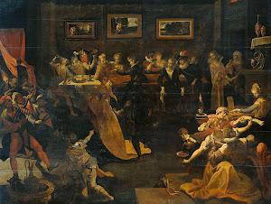 RIJKS: copy after Joos van Winghe: painting 1630
