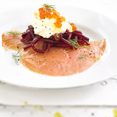 Smoked Salmon With Beetroot & Vodka Crème Fraîche