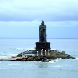Southern tip of India by Ami Bhat - Buildings & Architecture Statues & Monuments ( indian ocean, memorial, india, south india, vivekananda rock, kanyakumari )