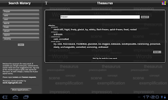 Screenshot of Thesaurus