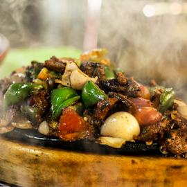 Chicken Sizzling  by Sadat Hossain - Food & Drink Plated Food ( fresh food, sizzling, smoke )