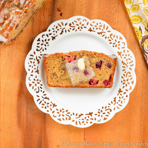 Orange Cranberry Bread With Orange Glaze