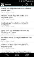Screenshot of Raider Nation News