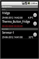 Screenshot of ThermoTrack Webserve