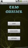 Screenshot of Trig Quizzer