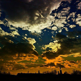by Nat Bolfan-Stosic - Landscapes Cloud Formations ( clouds, willage )