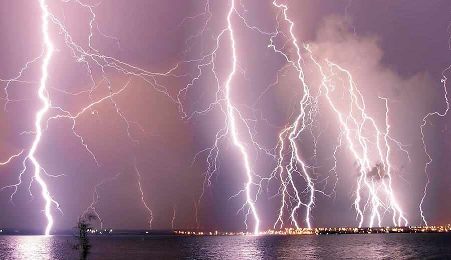 God's fury by Andrei Bârlea - Landscapes Weather ( lightning, extreme, weather, supercell, storm )