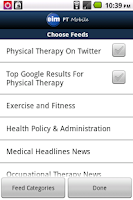 Screenshot of EIM PT Mobile