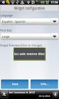 Screenshot of A Fuzzy Clock (Multilanguage)
