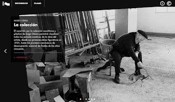 Screenshot of Museo Oteiza