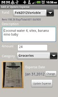 Screenshot of Easy Expense Pro