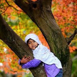 love the tree by Darlis Herumurti - Babies & Children Children Candids