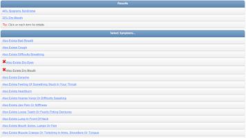 Screenshot of Doctor Online symptom checker