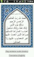 Screenshot of Al-Fatiha