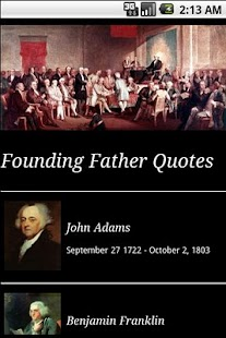 Founding Father Quotes - screenshot