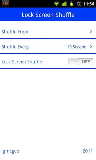 Lock Screen Shuffle