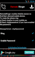 Screenshot of RemoteRinger, Phone Finder App
