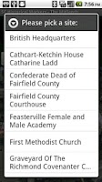 Screenshot of SC Midlands Historical Markers