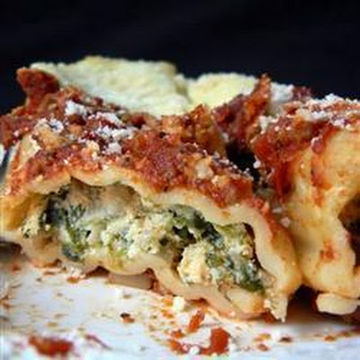 Two Sauce Beef, Spinach And Ricotta Cannelloni