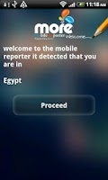 Screenshot of Mobile Reporter