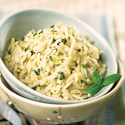 Lemon-Basil Orzo with Parmesan