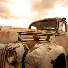 Glowing from Age by Barbara Brock - Transportation Other ( antique truck, abandoned truck, decaying truck, old truck )